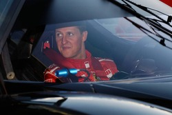 Michael Schumacher in his own Ferrari FXX Road car