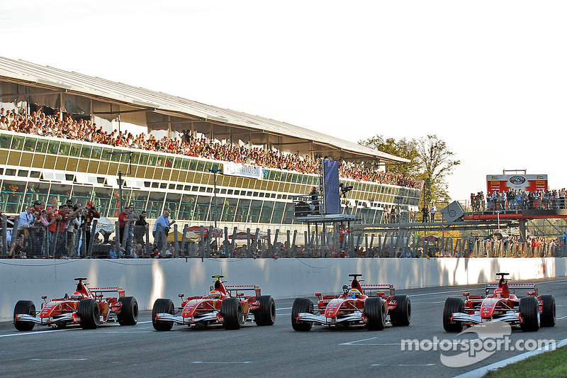 Felipe Massa, Michael Schumacher, Marc Gene et Luca Badoer