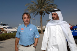 FIA's Vice-President for sport and 14-time Middle East Rally Champion Mohamed Ben Sulayem with Carlos Sainz