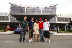 Proton factory visit: Karl Reindler, Oliver Jarvis, James Hinchcliffe and Congfu Cheng