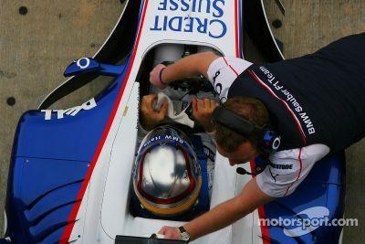 Alex Zanardi BMW Sauber F1.06 testi