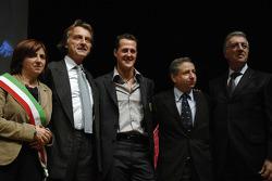Lucia Bursi, Luca di Montezemolo, Jean Todt and Piero Ferrari