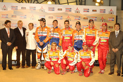 Team Repsol presentation in Barcelona: Team Repsol drivers, co-drivers and personel on stage