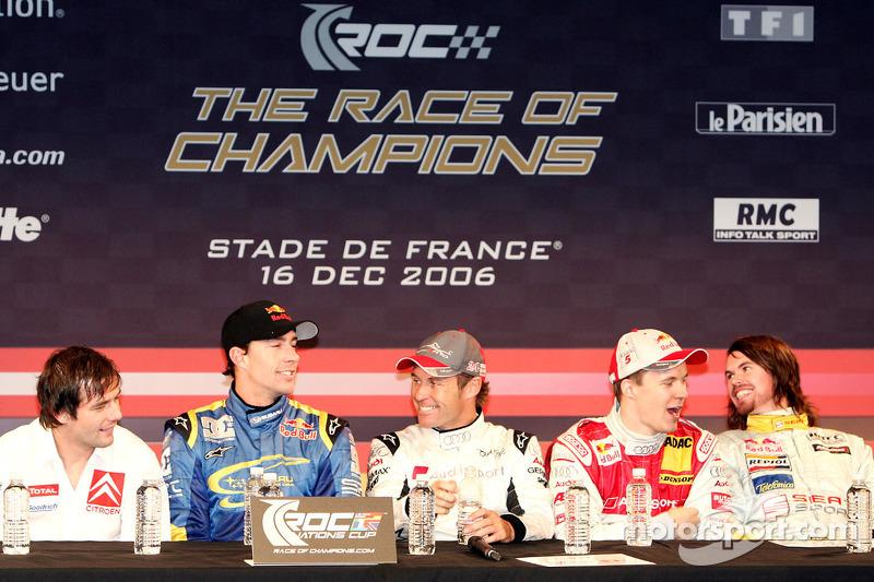 Sébastien Loeb, Travis Pastrana, Tom Kristensen, Mattias Ekström and James Thompson