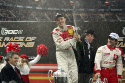 Champagne for Race of Champions winner Mattias Ekström
