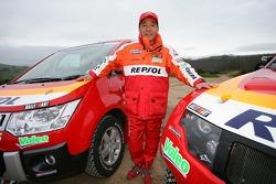 Team Repsol Mitsubishi Ralliart shakedown: Hiroshi Masuoka