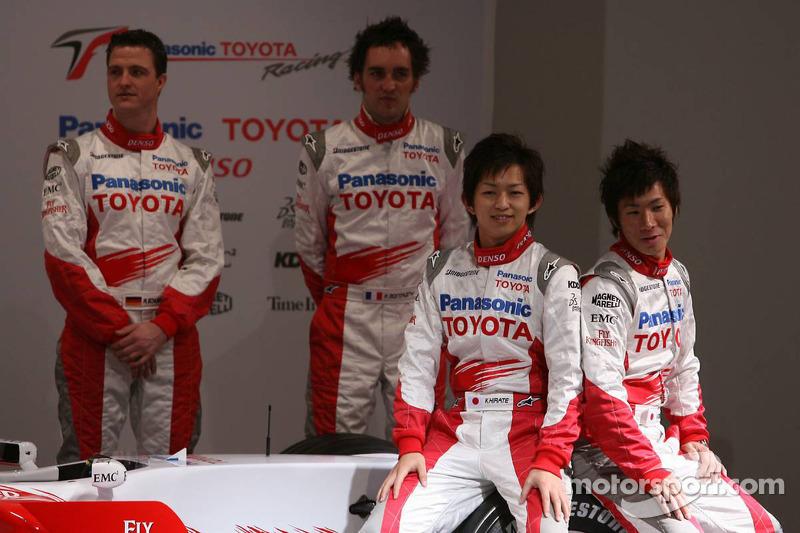 Ralf Schumacher, Franck Montagny, Kohei Hirate and Kamui Kobayashi