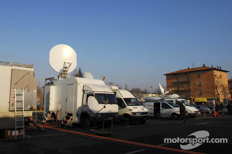 World media setup at Fiorano
