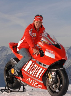 Casey Stoner with the Ducati Desmosedici GP7