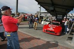 Fans enjoy the historic cars