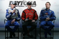 Post-qualifying press conference: Marc Goossens, Alex Gurney and Max Angelelli