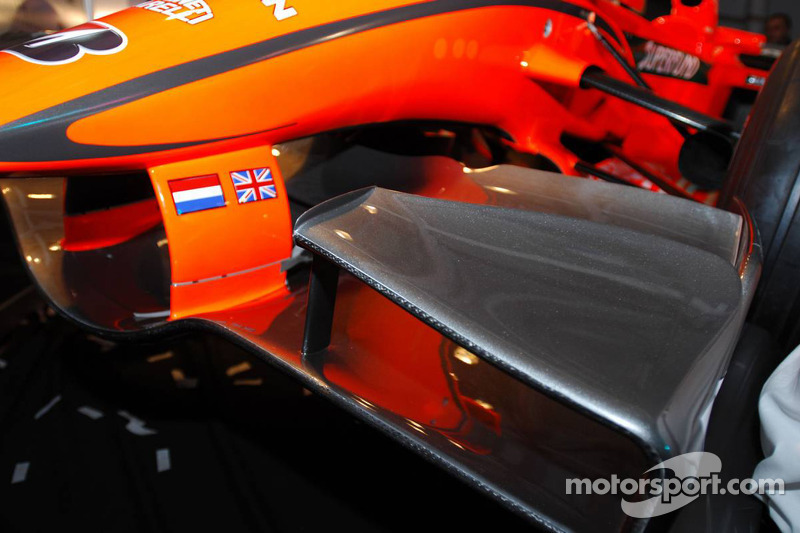 Detail of the 2007 Spyker-Ferrari F8-VII
