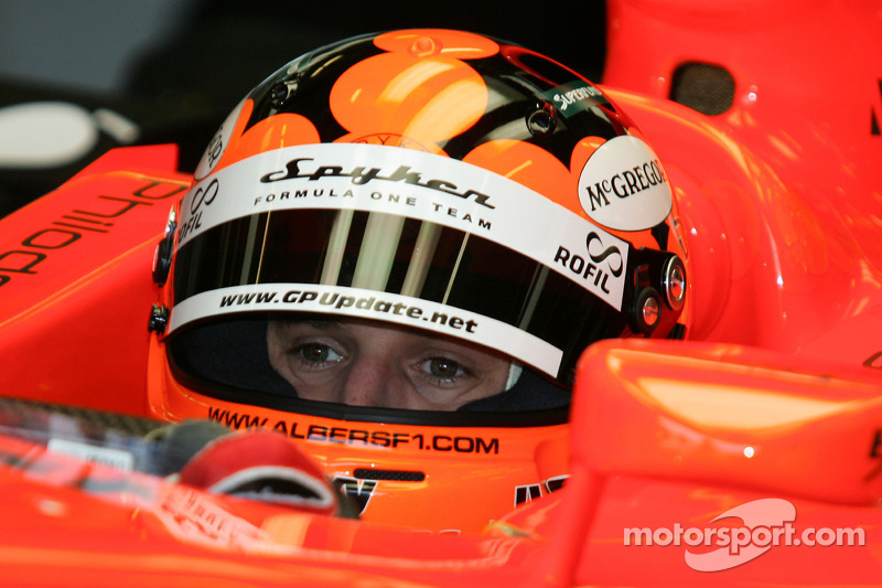 Christijan Albers in the 2007 Spyker-Ferrari F8-VII