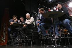 Jeff Gordon, Denny Hamlin, Dale Jarrett, Ken Schrader and Dale Earnhardt Jr.