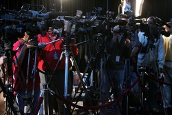 TV crews at the media day
