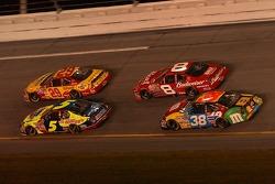 Kyle Busch, Kevin Harvick, Dale Earnhardt Jr., David Gilliland