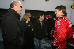 Carl Edwards shares a laugh with guests