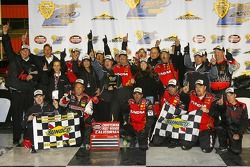 Victory lane: race Mike Skinner celebrates with his team