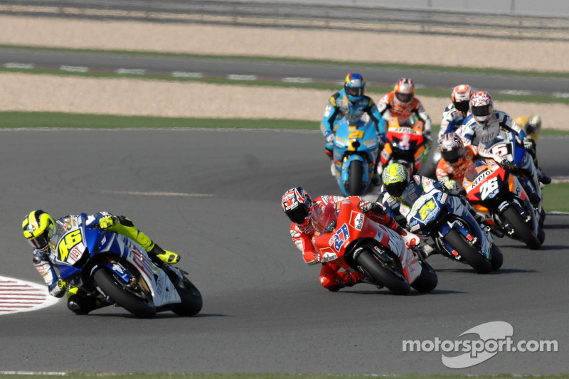 Départ : Valentino Rossi devant Casey Stoner