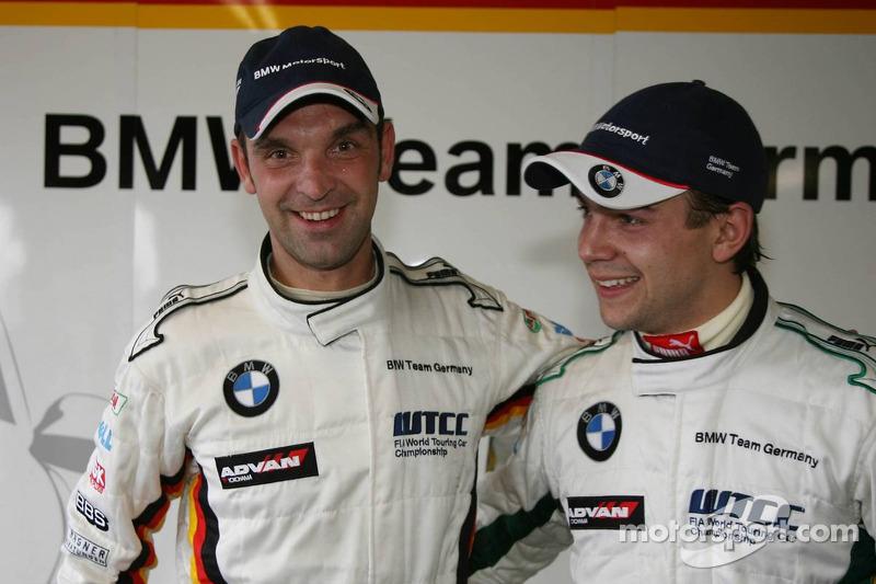 Pole position, Jorg Muller, BMW Team Germany, BMW 320si WTCC, 2nd, Augusto Farfus, BMW Team Germany, BMW 320si WTCC