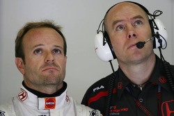 Rubens Barrichello, Honda Racing F1 Team and Jock Clear, Honda Racing F1 Team, Senior Race Engineer to Rubens Barrichello