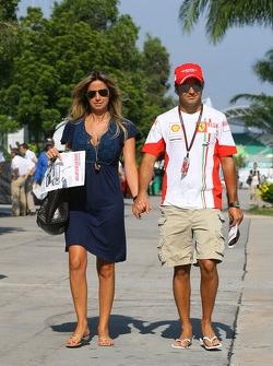 Rafaela Bassi, girlfriend of Felipe Massa and Felipe Massa, Scuderia Ferrari