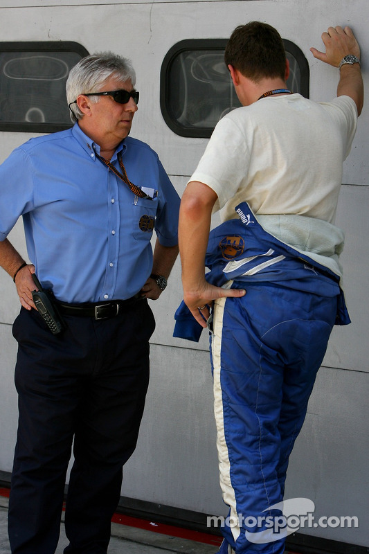 Herbie Blash, FIA Observer and Bernd Maylander, FIA F1 and GP2 safety car driver