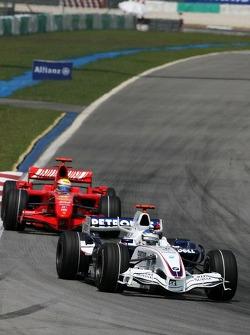 Nick Heidfeld, BMW Sauber F1 Team , Felipe Massa, Scuderia Ferrari