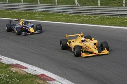 Milos Pavlovic, Team Draco Multiracing USA leads Sebastian Vettel, Carlin Motorsport
