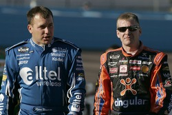 Ryan Newman and Jeff Burton