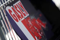 Пит борд для Пьера Гасли, тестового пилота Scuderia Toro Rosso