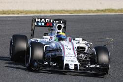Felipe Massa, Williams FW37 avec différents équipements de télémétrie