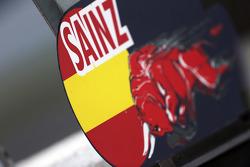 Pit board for Carlos Sainz Jr., Scuderia Toro Rosso