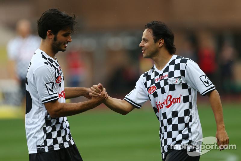 Carlos Sainz jr., Scuderia Toro Rosso, und Felipe Massa, Williams