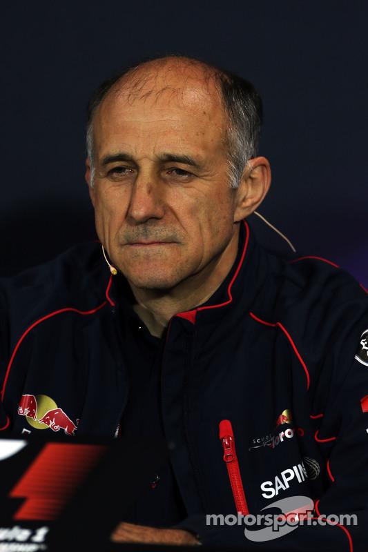 Franz Tost, Scuderia Toro Rosso, Teamchef, in der FIA-Pressekonferenz