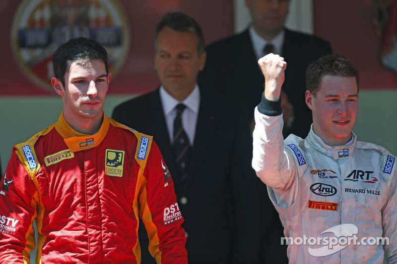 1. Stoffel Vandoorne, ART Grand Prix, und 2. Alexander Rossi, Racing Engineering