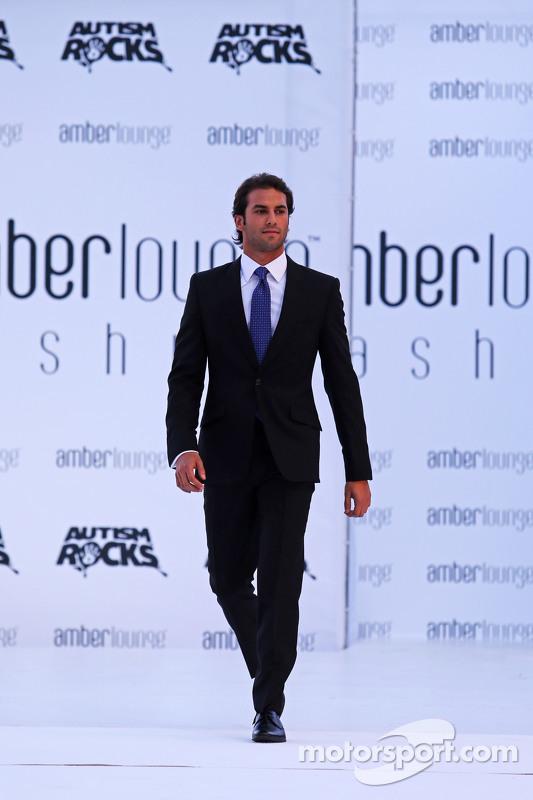 Felipe Nasr, Sauber F1 Team, bei der Modenschau Amber Lounge