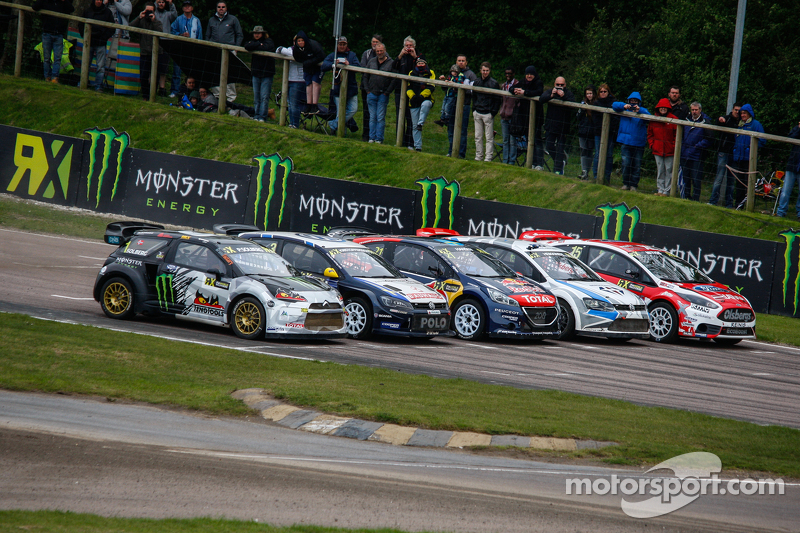 Start grid for the World RX of Great Britain