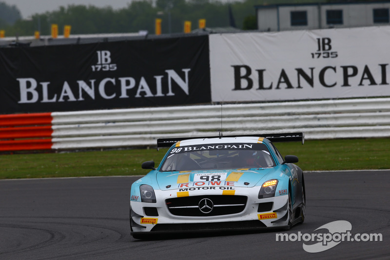#98 Team Astana by Rowe, Mercedes SLS AMG GT3: Nicolai Sylvest, Indy Dontje, Daniel Juncadella
