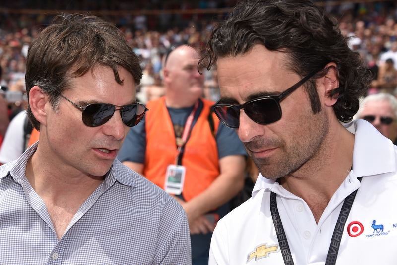 Jeff Gordon and Dario Franchitti
