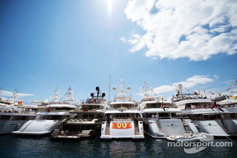 Boats in the scenic Monaco Harbour
