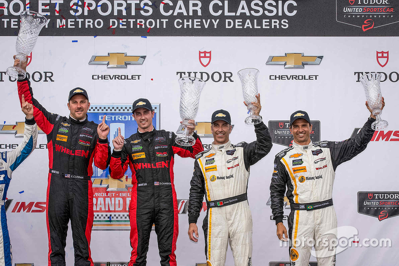 Podium: Race winner #31 Action Express Racing Corvette DP: Eric Curran, Dane Cameron and third placed #5 Action Express Racing Corvette DP: Joao Barbosa, Christian Fittipaldi