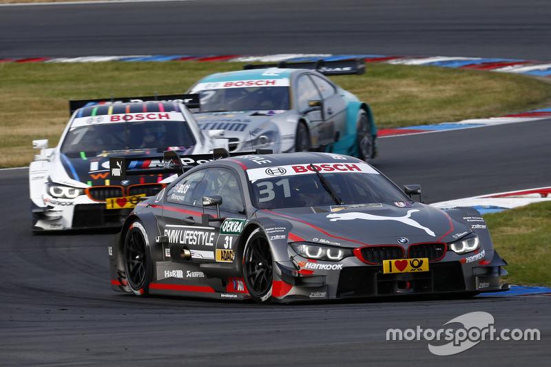 Tom Blomqvist, BMW M4 DTM and Marco Wittmann, BMW M4 DTM and Daniel Juncadella, Mercedes-AMG C 63 DTM