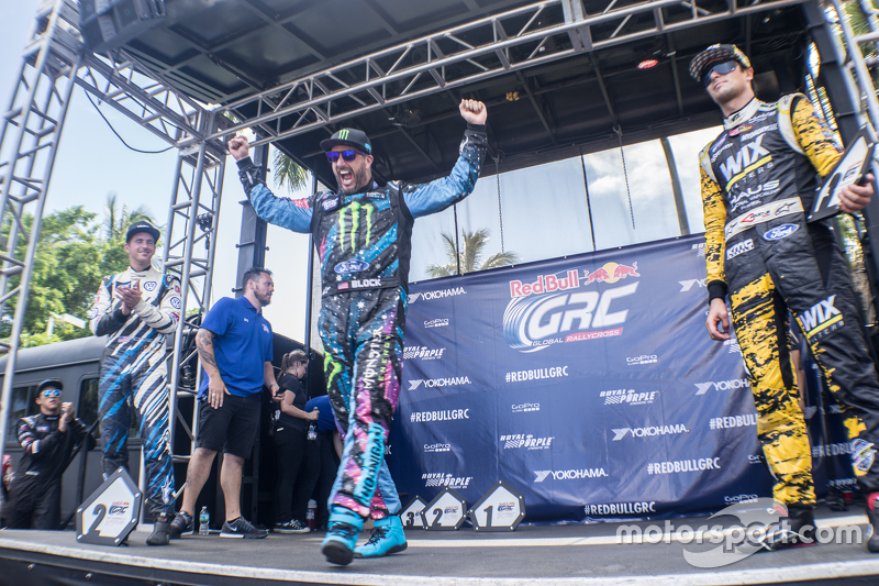 Podium: 1. Ken Block, 2. Scott Speed, 3. Nelson Piquet jr.