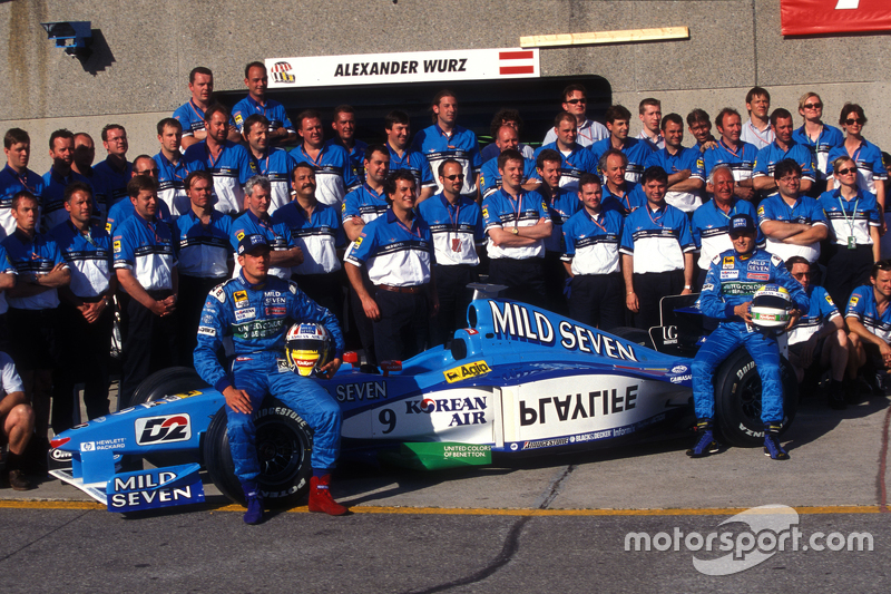 Benetton team photo