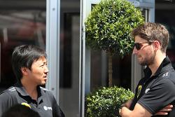 Ромен Грожан, Lotus F1 Team и Айо Комацу, Lotus F1 Team