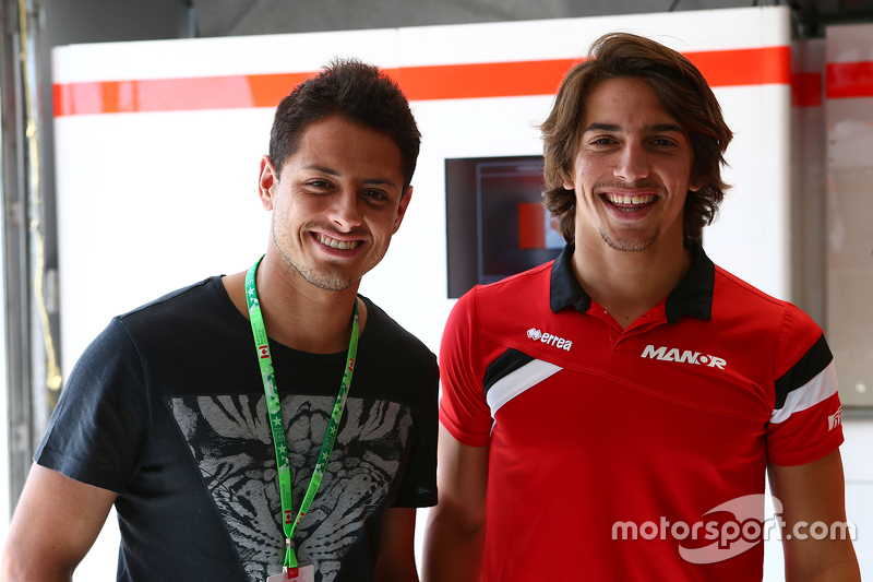 Roberto Merhi, Manor F1 Team with Javier Hernandez, Manchester Utd Football Player
