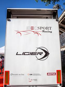 IDEC Sport Racing and Ligier signage and logo