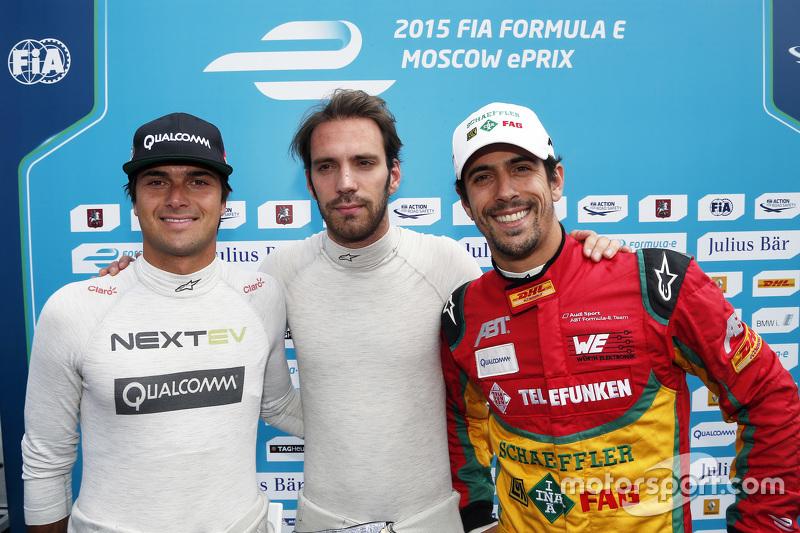 Nelson Piquet jr., China Racing; Pole-Sitter: Jean-Eric Vergne, Andretti Autosport, und Lucas di Grassi, Audi Sport Team Abt
