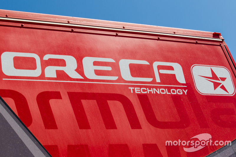 ORECA transporter and logo / signage